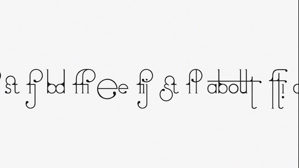 Futura-inspired font magically adjusts to look its best as you type