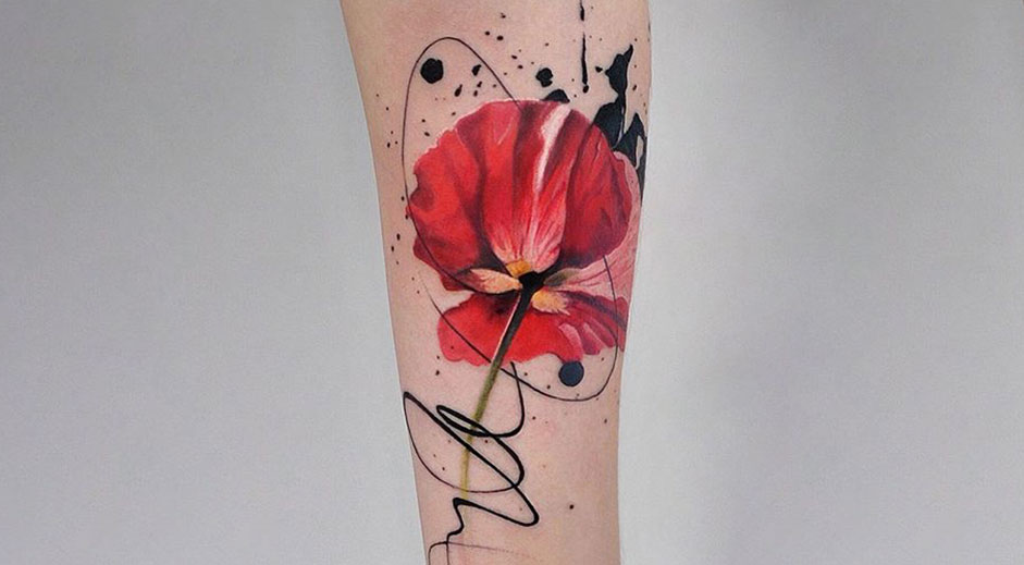 Beautiful tattoos that look like watercolour art