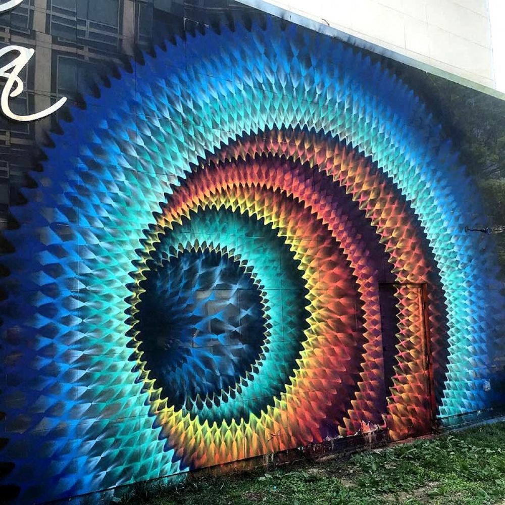 Douglas Hoekzema street art that blurs the border between fantasy and reality