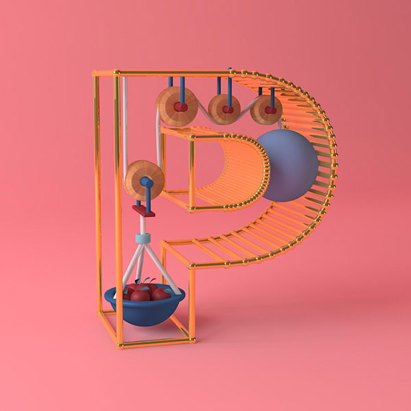 36 Days of Type project leads to adorable 3D typography | Daniel ...