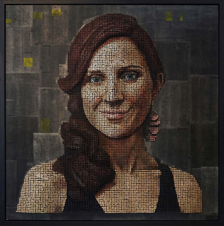 3D portraits that are made of thousands of screws