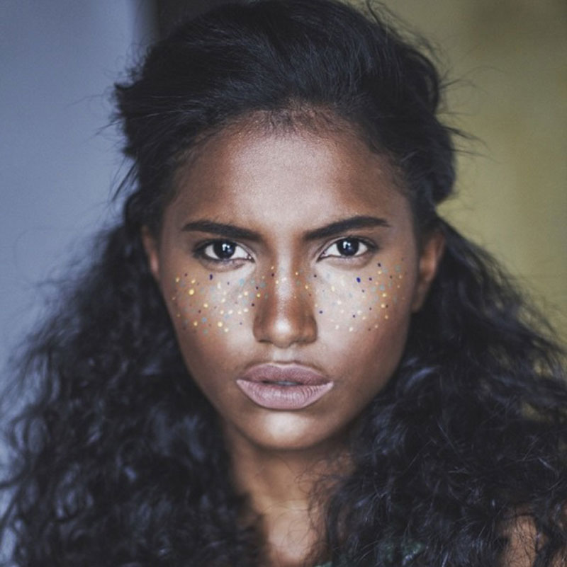 Metallic freckles are this summer's hot new beauty trend