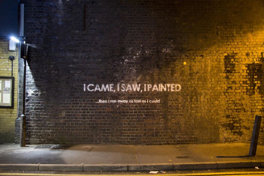 Mobstr leaves ironic messages all over the UK