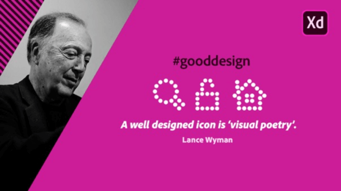 Adobe XD FREE icon collections by Lance Wyman