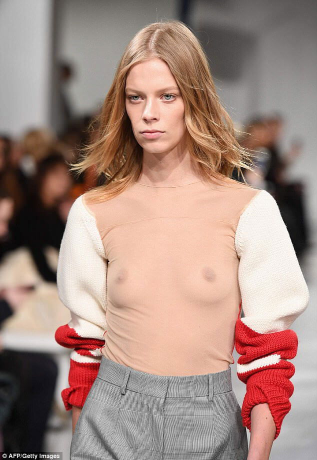 Odd fashion trends for 2017: Calvin Klein nipple sweater