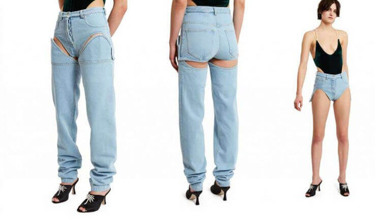 Odd fashion trends for 2017: Detachable Jeans