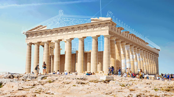Animated GIFs reconstruct ancient ruins around the world