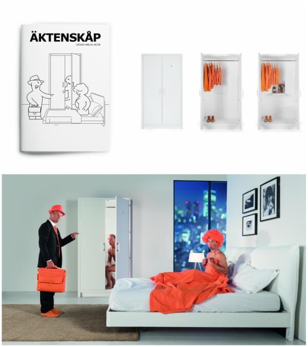 ÄKTENSKÅP by IDEA, an IKEA parody