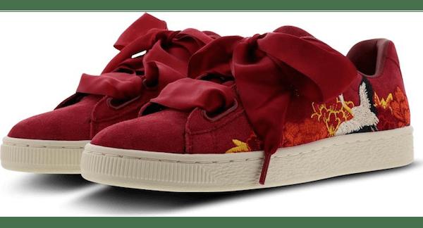 PUMA Heart Kimono embroidered sneakers
