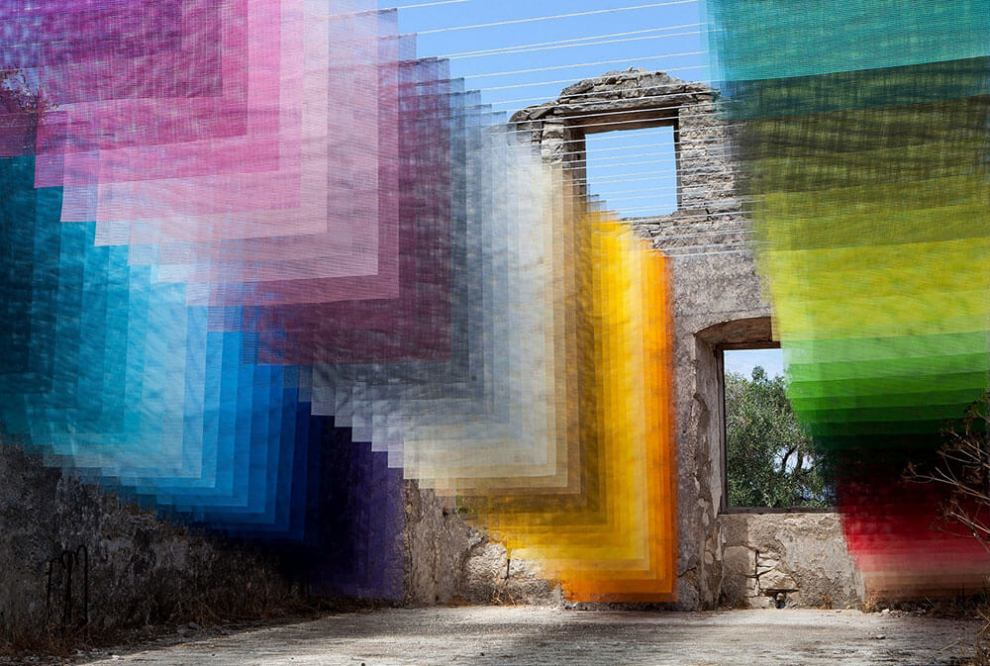 Quintessenz Pixelated Art Installation: Paxos Contemporary Art Project
