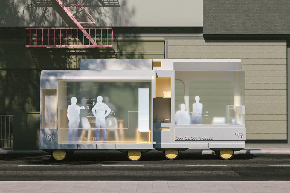 IKEA self-driving cars: Office on Wheels
