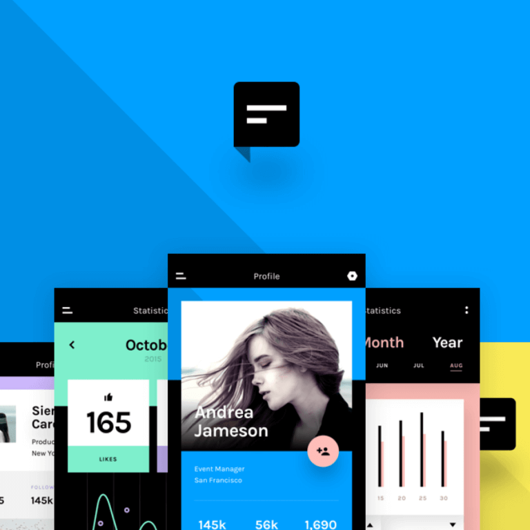 Chat UI kit: The latest collection of icons, UI kits and mockups, all for free