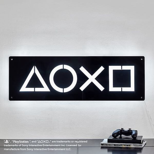 Sony PlayStation furniture: Neon light