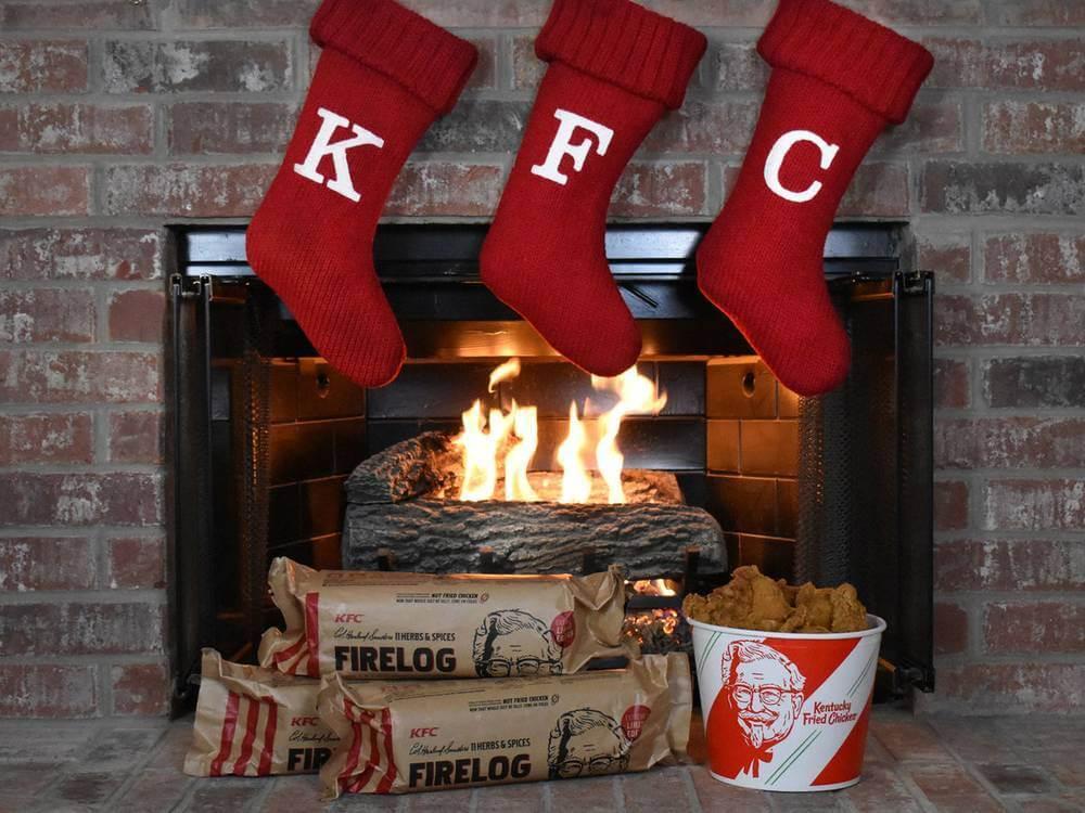 KFC fire log smells like 11 herbs & spices