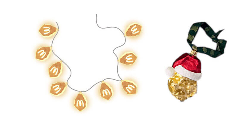 McDonald's McNugget Christmas ornaments