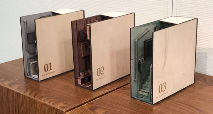 Creative bookends that you have to see up close to appreciate