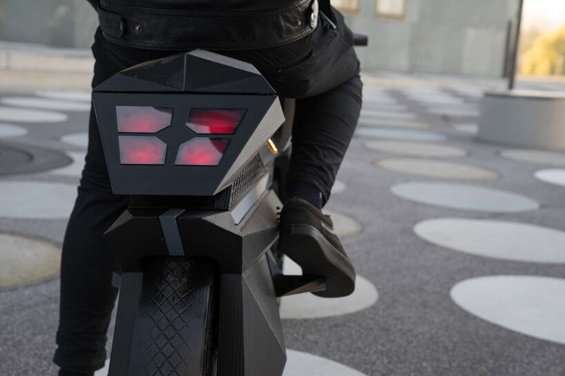 NERA fully 3D printed electronic motorcycle