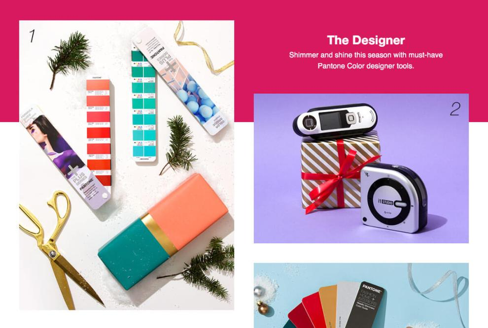 Pantone 2018 Holiday Gift Guide for Designers