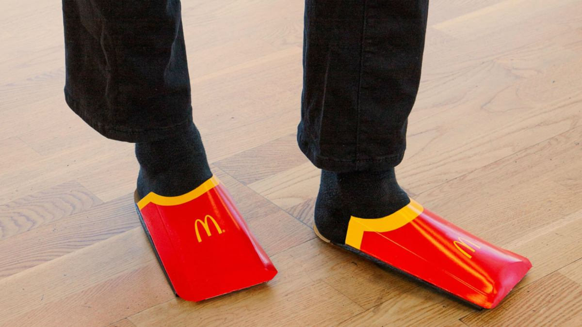 McDonald's plans to retail its own version of Balenciaga's fries shoes