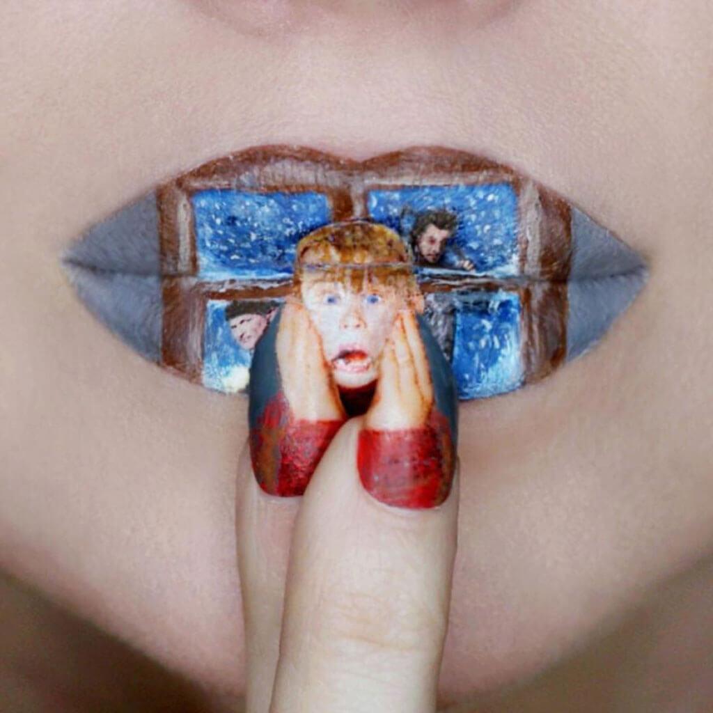 Home Alone pop culture lip art