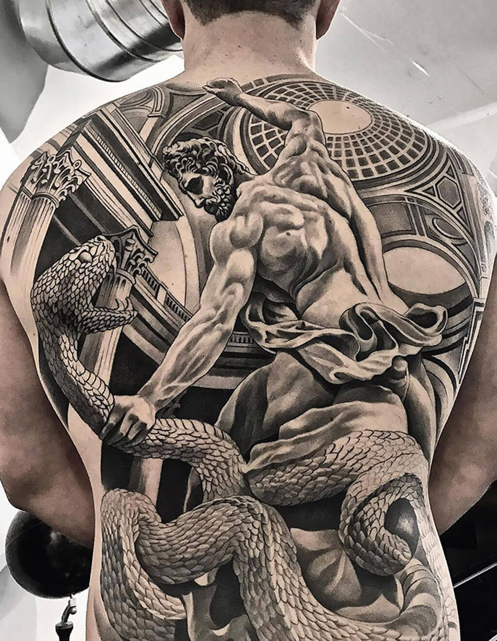 Impressive back tattoos