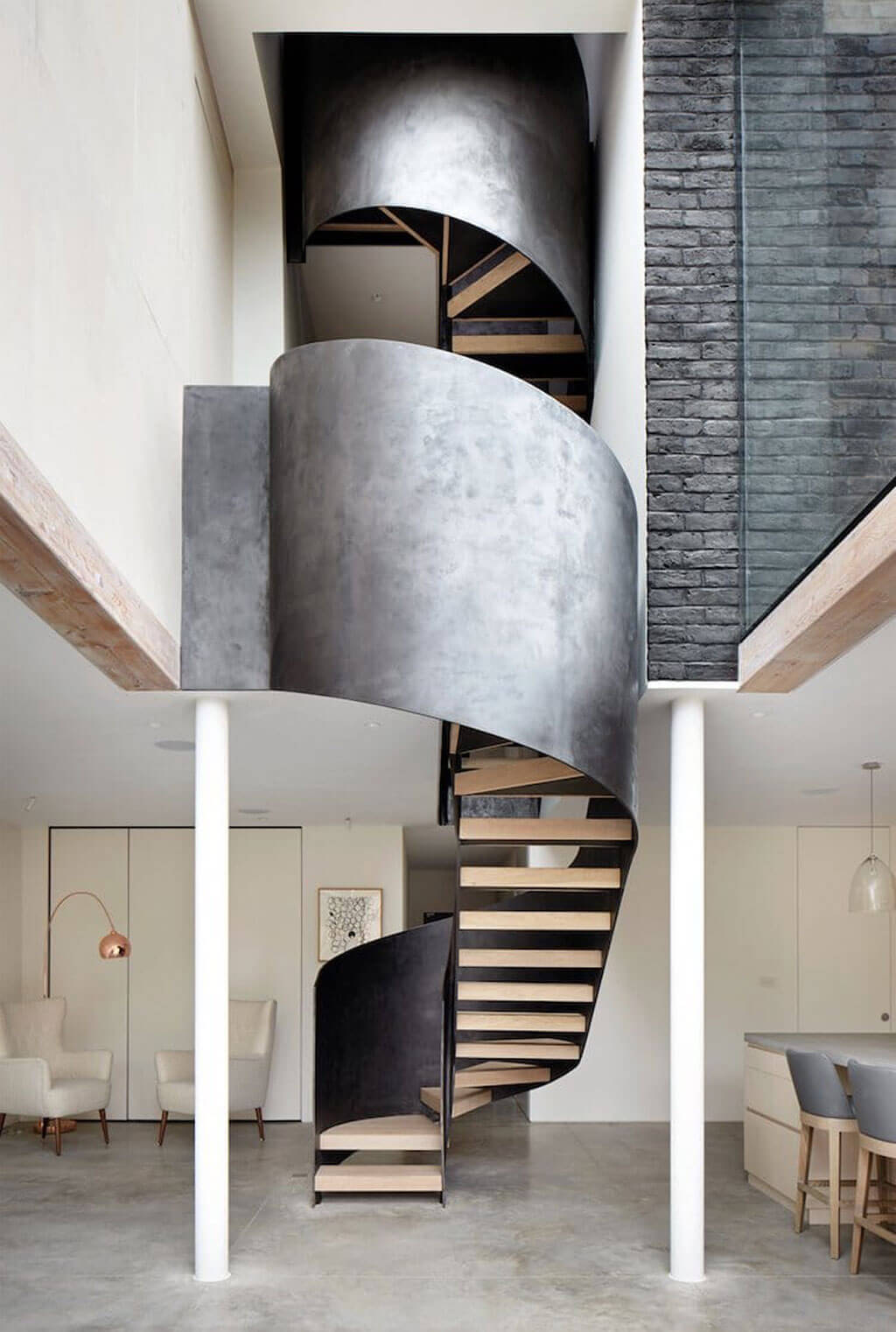 Stair designs with a (literal) twist