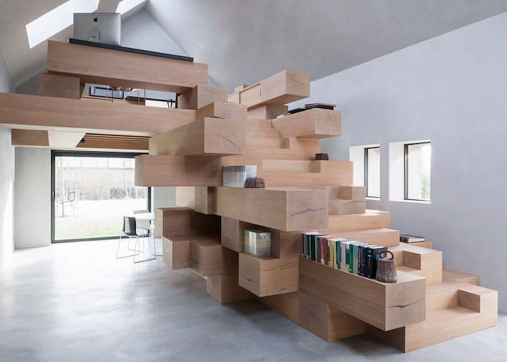 Staircases that double in function
