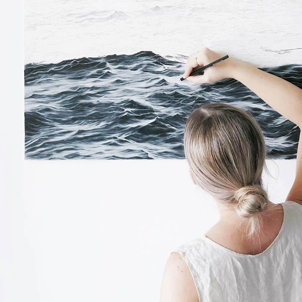 Ocean waves by Bethany Moffat