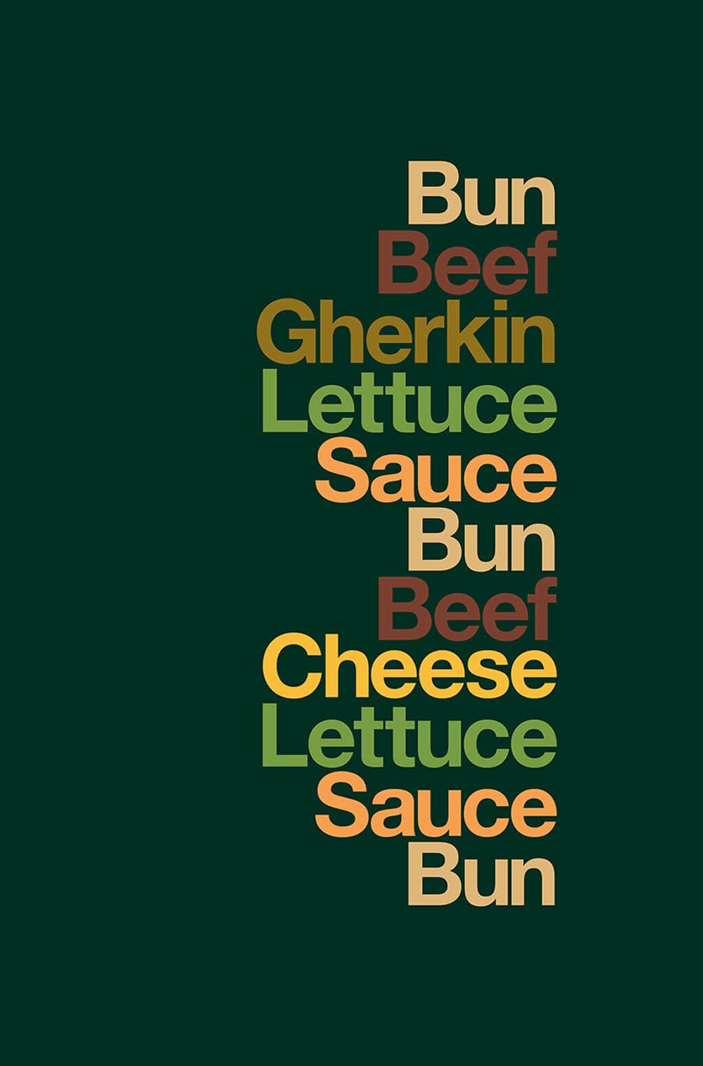 Minimalist OOH Big Mac ad