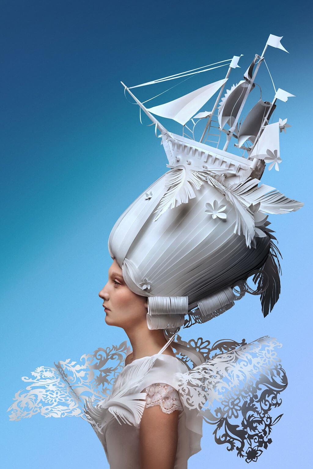 Ship paper wig by Asya Kozina and Dmitriy Kozin