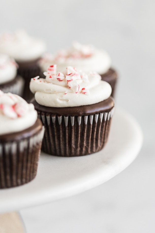 Gluten-free and dairy-free Peppermint Mocha Cupcakes