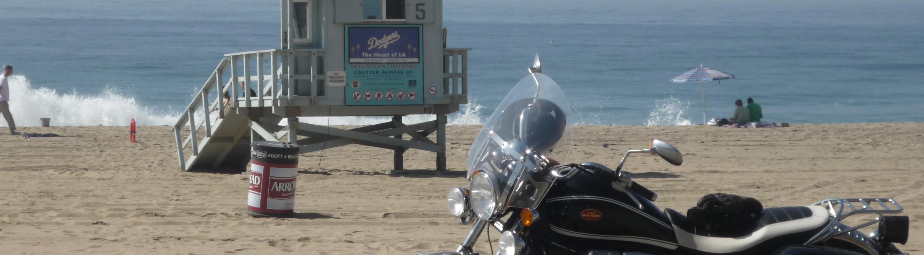 Moto Guzzi California Vintage, Point Dume Beach, 11/22/08, 10am.