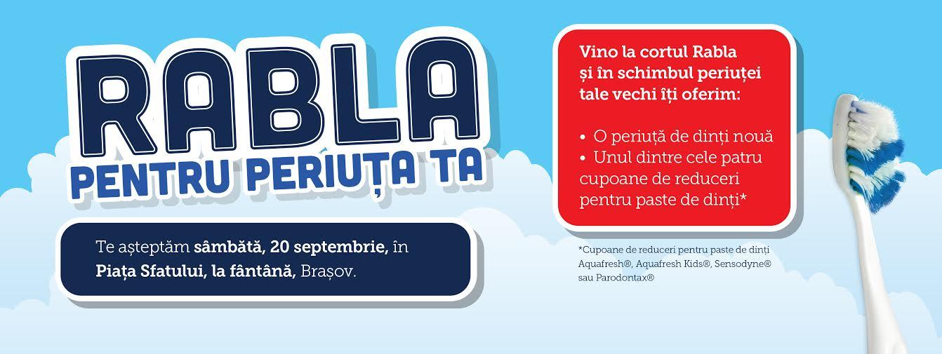 Caravana Rabla pentru Periuța Ta vine la Brașov