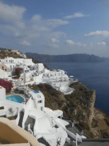 Julia Ember travel photos - Santorini cliffs