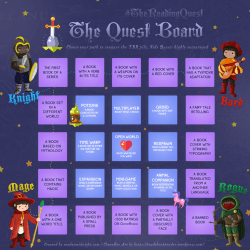 I'm embarking on #TheReadingQuest!