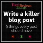 Write a killer blog post