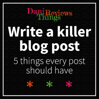 Write a killer blog post