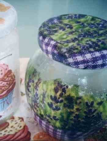 Decoupage jars
