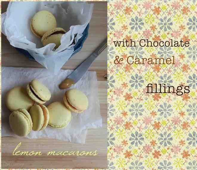 lemon macarons with chocolate & caramel fillings | daniscookings.wordpress.com