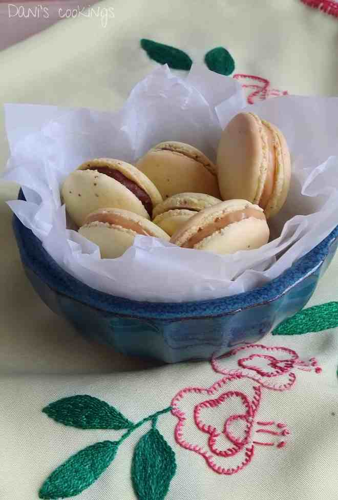 lemon macarons with chocolate & caramel fillings| daniscookings.wordpress.com
