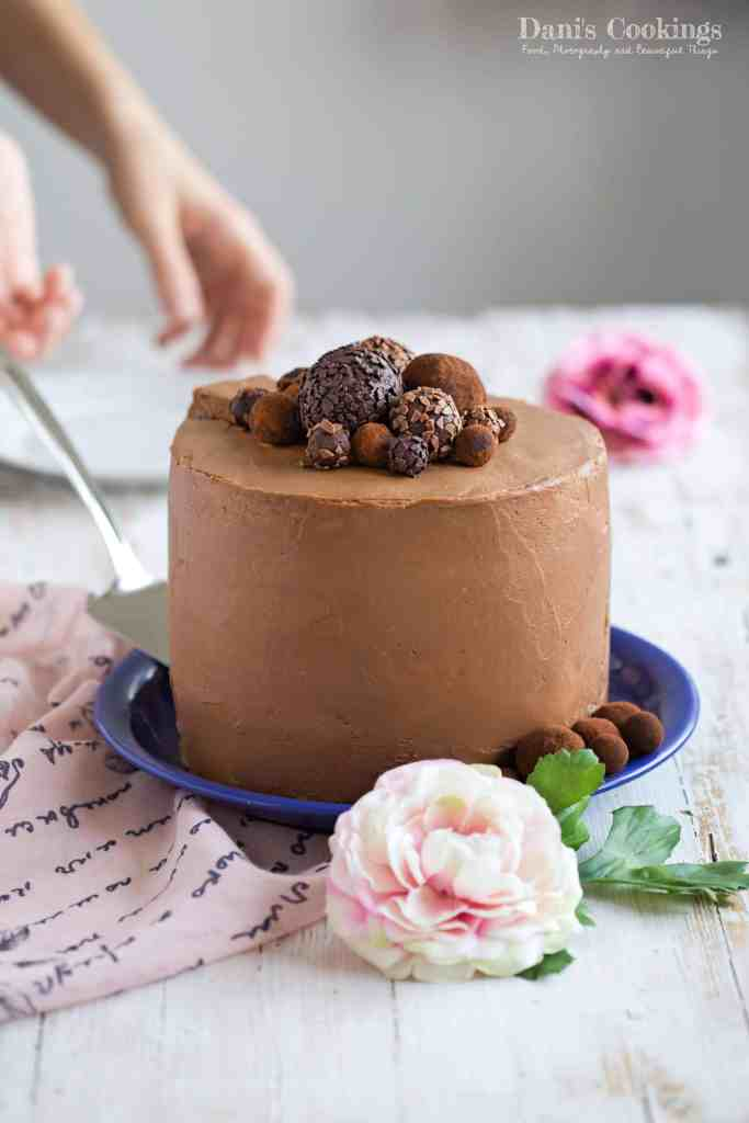 Dreamy Chocolate Layer Cake with Chocolate Truffles | Dani's Cookings