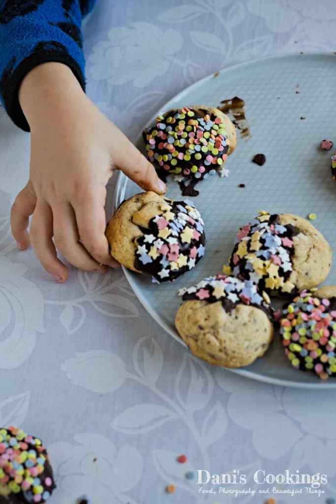 Orange Chocolate Cookies with Sprinkles