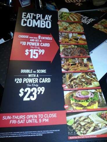 Eat & Play Combo Ad - Dave & Buster's