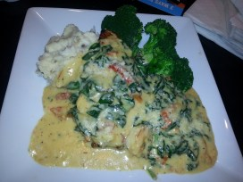 Chicken & Shrimp Rockefeller - Dave & Buster's