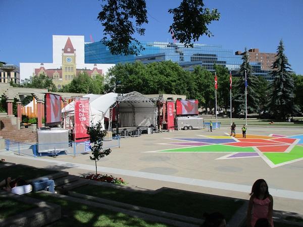 Calgary's Olympic plaza