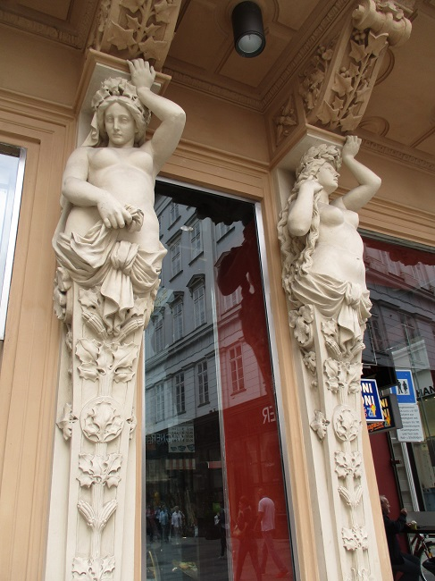 Statues outside Josef Meinl