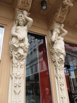 Statues outside Josef Meinl