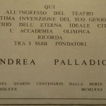 Plaque to Andrea Palladio
