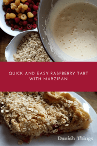 Quick and easy raspberry tart with marzipan