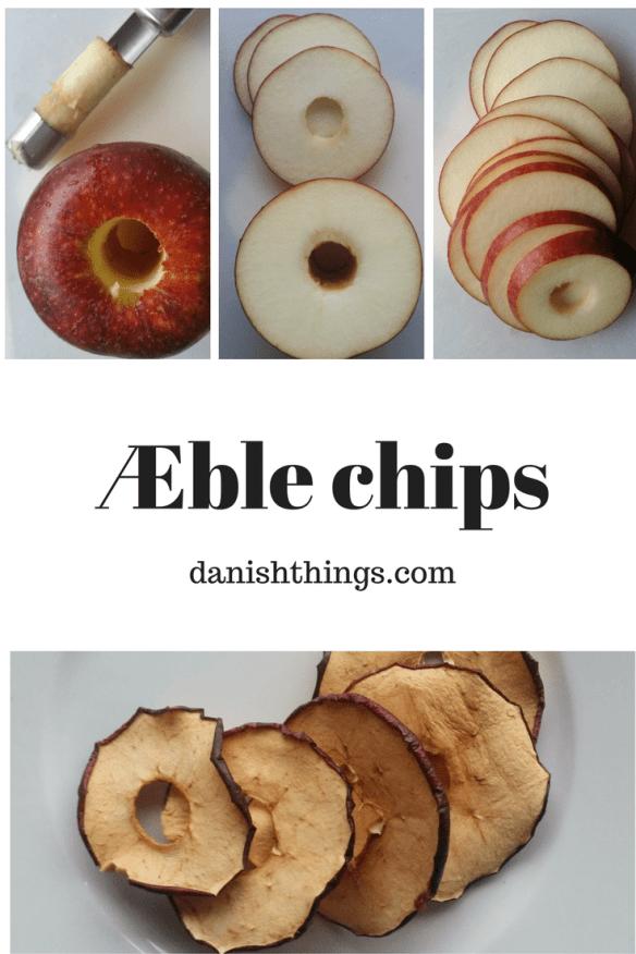 Æble chips - Tørrede æbleringe af Cox Orange, Ingrid Marie og Malus Redlove 'Circe'